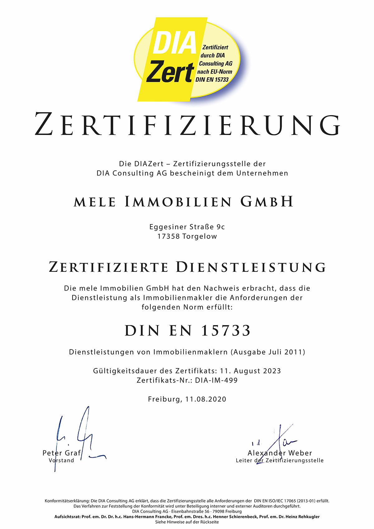 DIA_Zertifikat_DIN-EN-15733_11.08